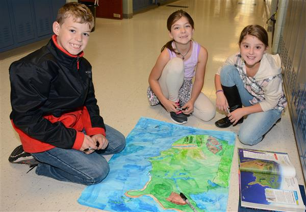 Students create landforms